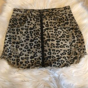 Boutique style cheetah skirt